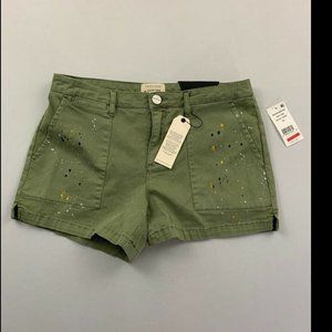 Sanctuary Women's Green Field Shorts 26 NWT